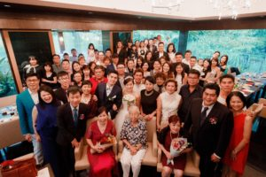 Group Wedding Photo in Tangerine Restaurant