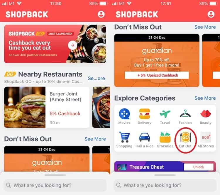 In-Store Shopback GO Mobile App