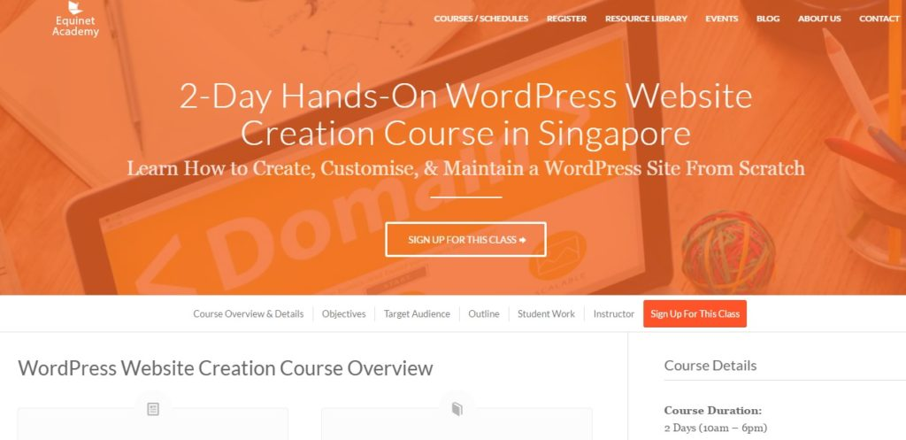 WordPress Website Creation by Equinet Academy