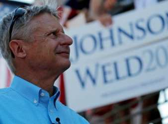 Former New Mexico governor and Libertarian presidential nominee Gary Johnson looks to the crowd during a rally in 2016. Sources close to Johnson state that he may be running for U.S. Senate in November's general election. (Brian Snyder/Reuters file photo)