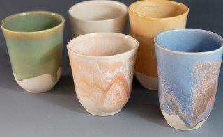 Porcelain Tumblers, Assorted Colors