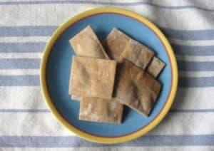 Homemade Vegan Wheat Thins