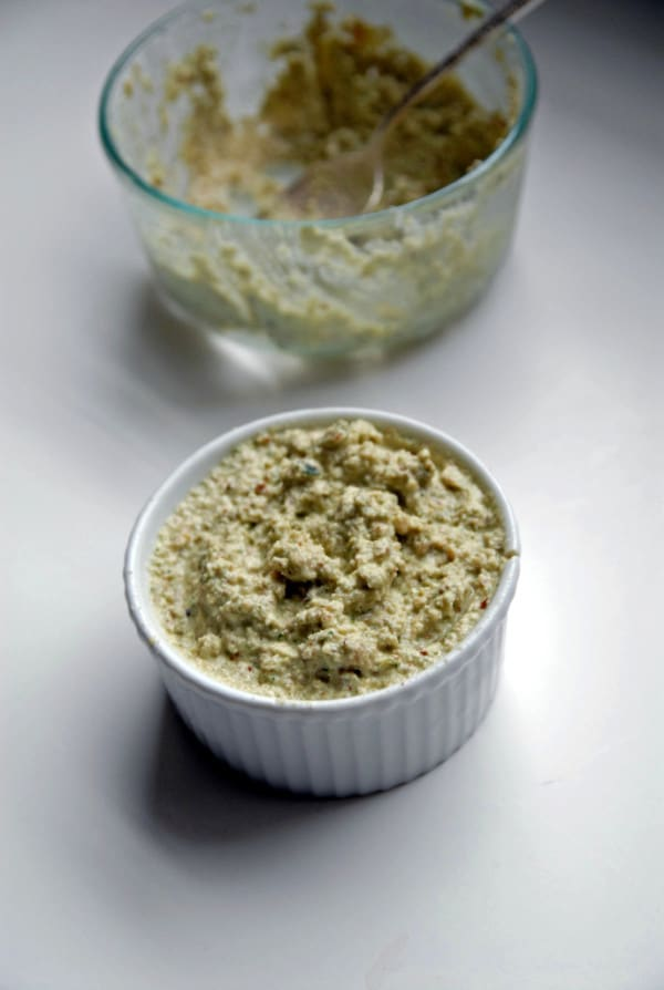 Vegan Goat Cheese Pesto Dip