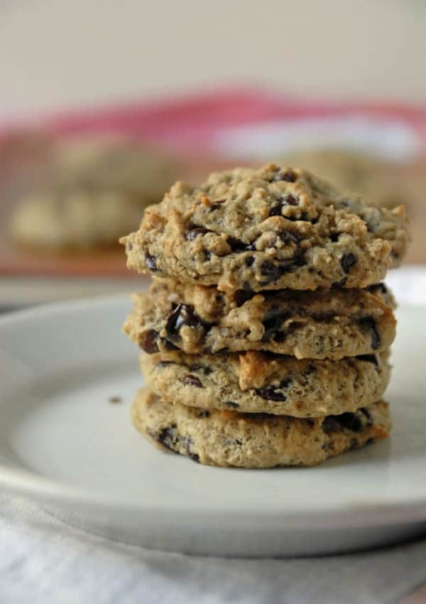 No Oil Vegan Chocolate Chip Cookies