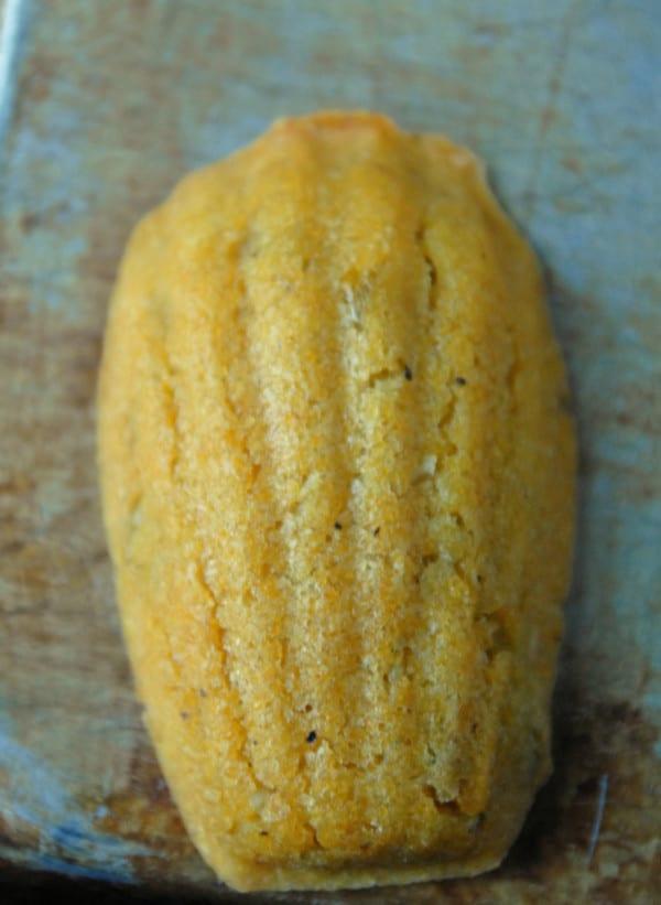 Green Chile Cornmeal Vegan Madeleines