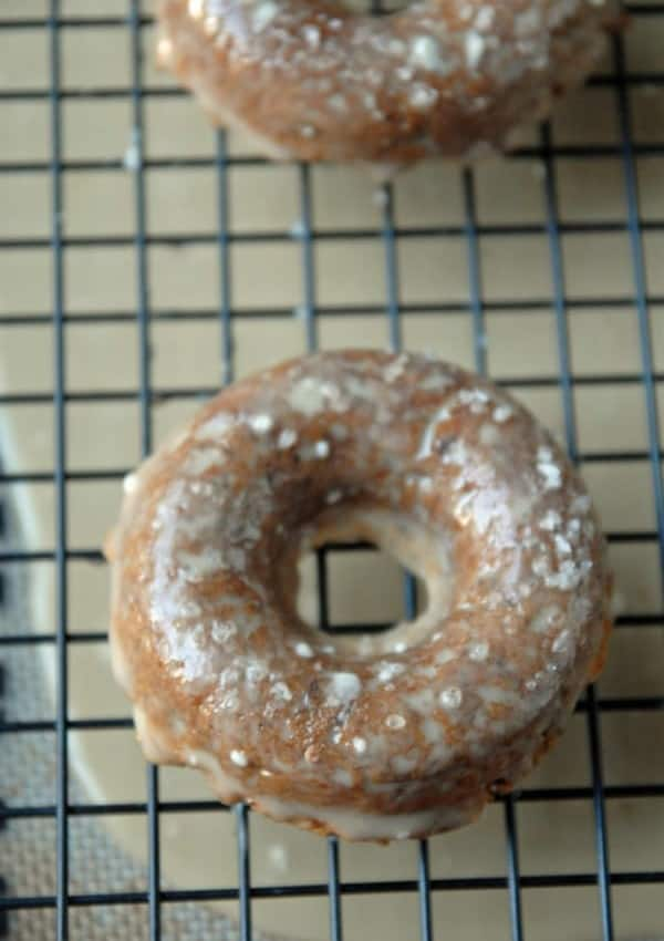 Maple Doughnuts with Maple Glaze and Sea Salt