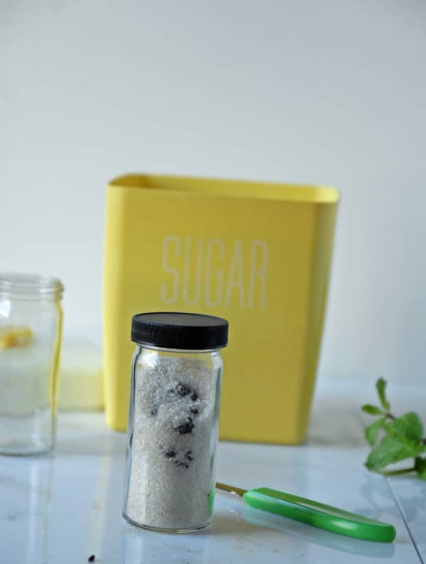 Vanilla Bean Infused Sugar + Mint Cocoa Infused Sugar