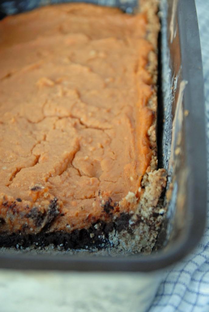 Dark Chocolate Sweet Potato Tart