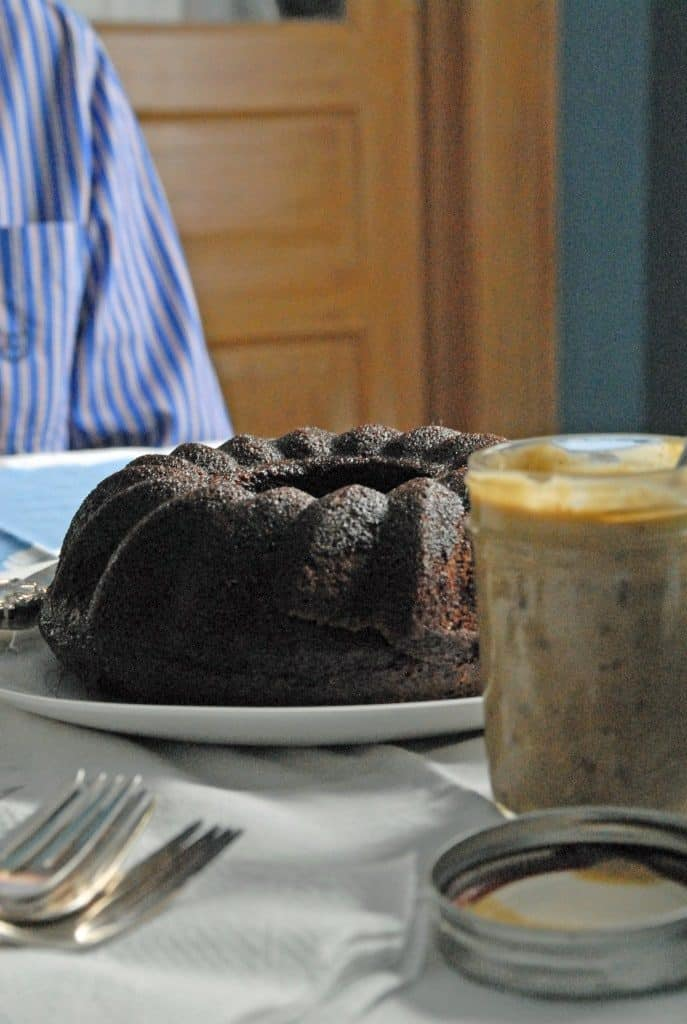 Spiced Coffee Cake with Caramel Date Sauce