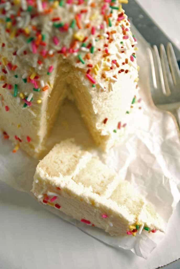 Lemon Vanilla Layer Cake with Lemon Buttercream Frosting// The Frosted Vegan