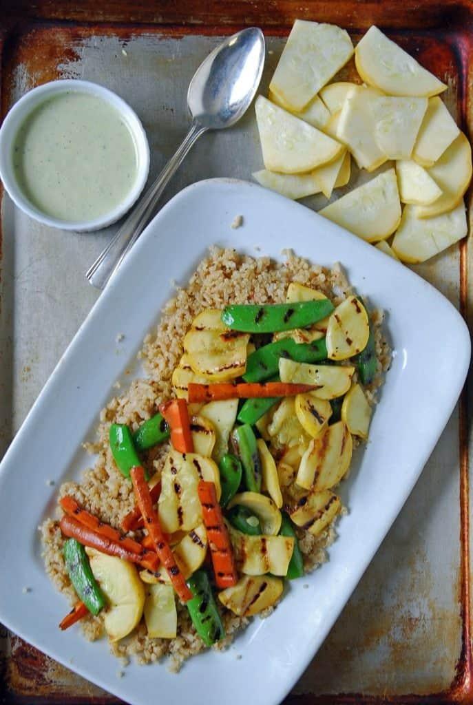 Grilled Summer Vegetables with Creamy Lemon Vinaigrette