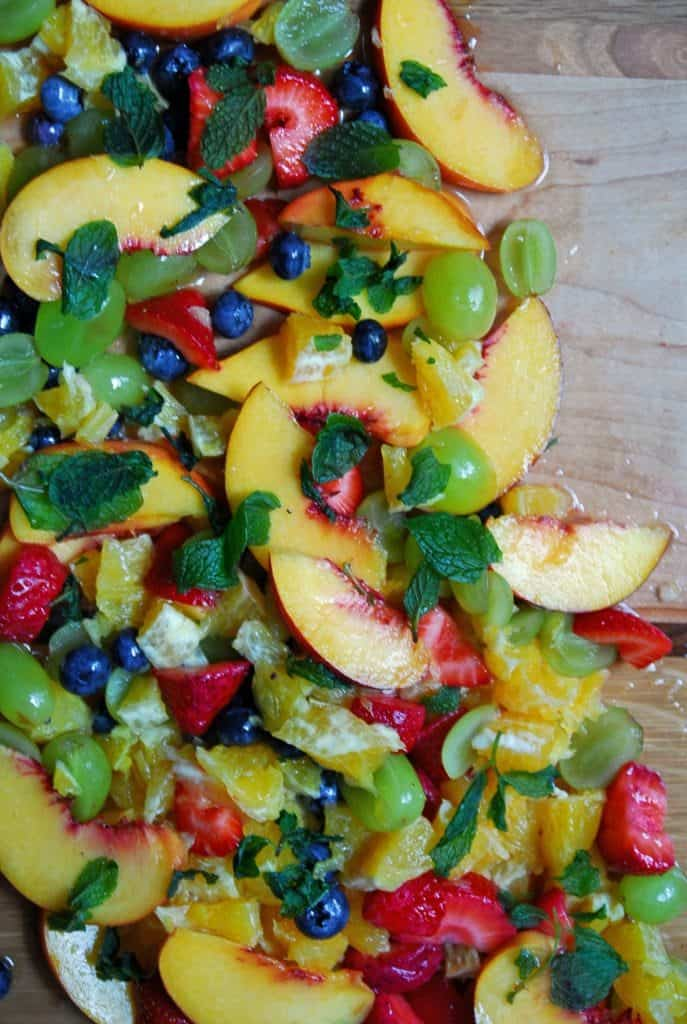 Everyday Fruit Salad with Sweet Cider Dressing
