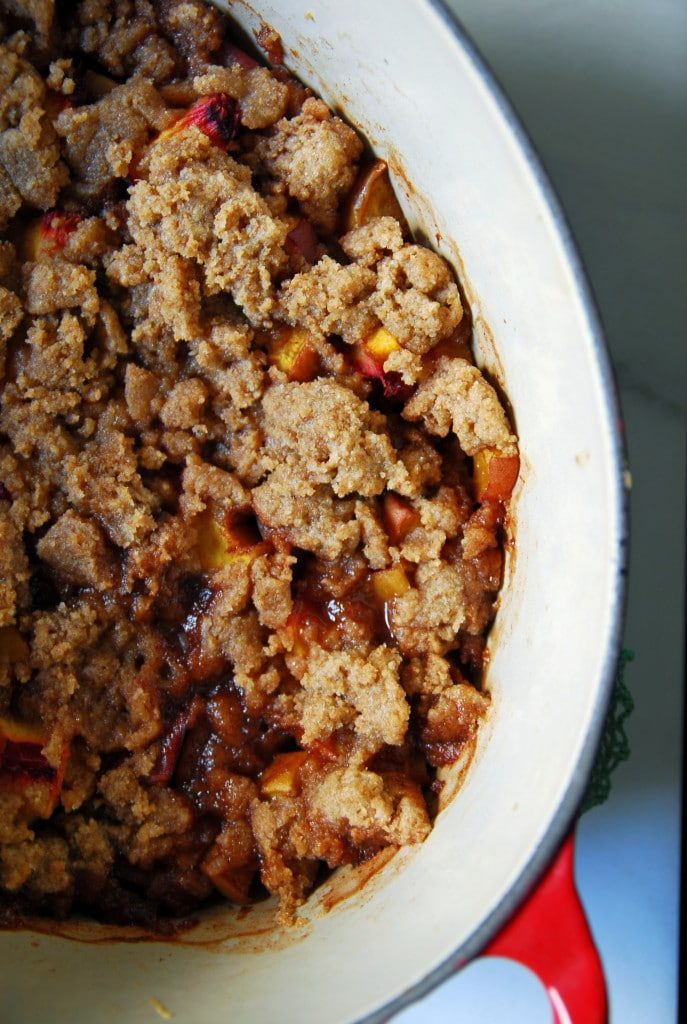 Simple Vegan Peach Crisp
