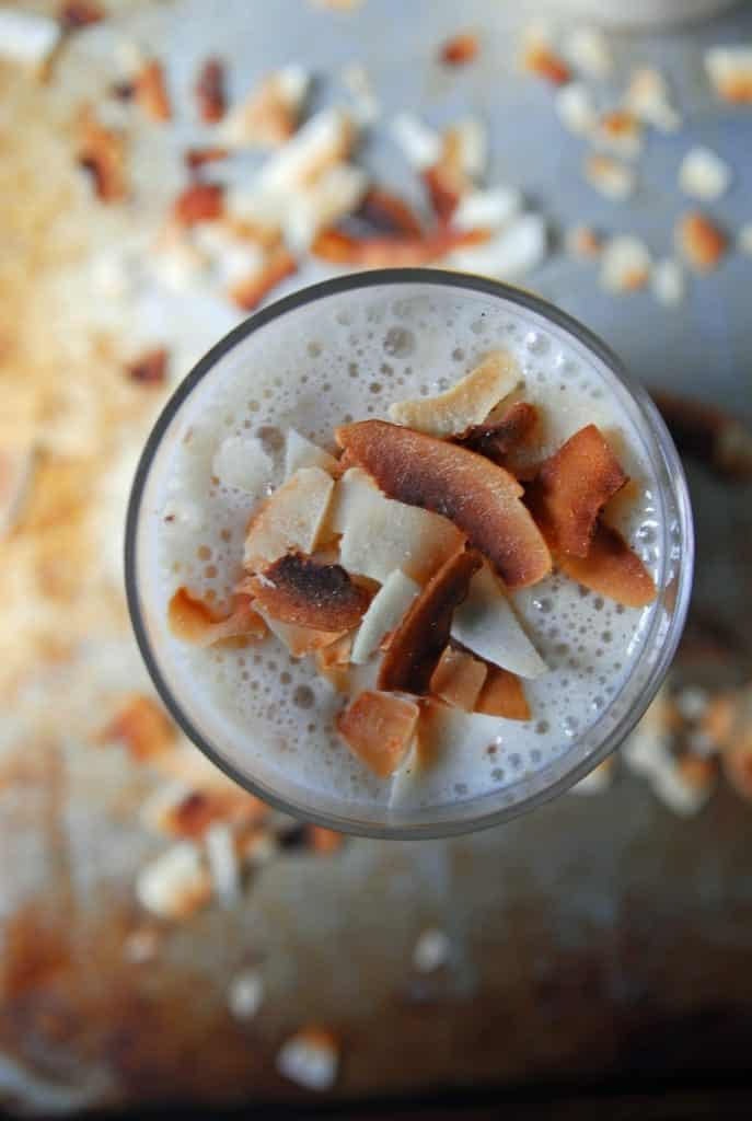 Toasted Coconut and Banana Smoothie