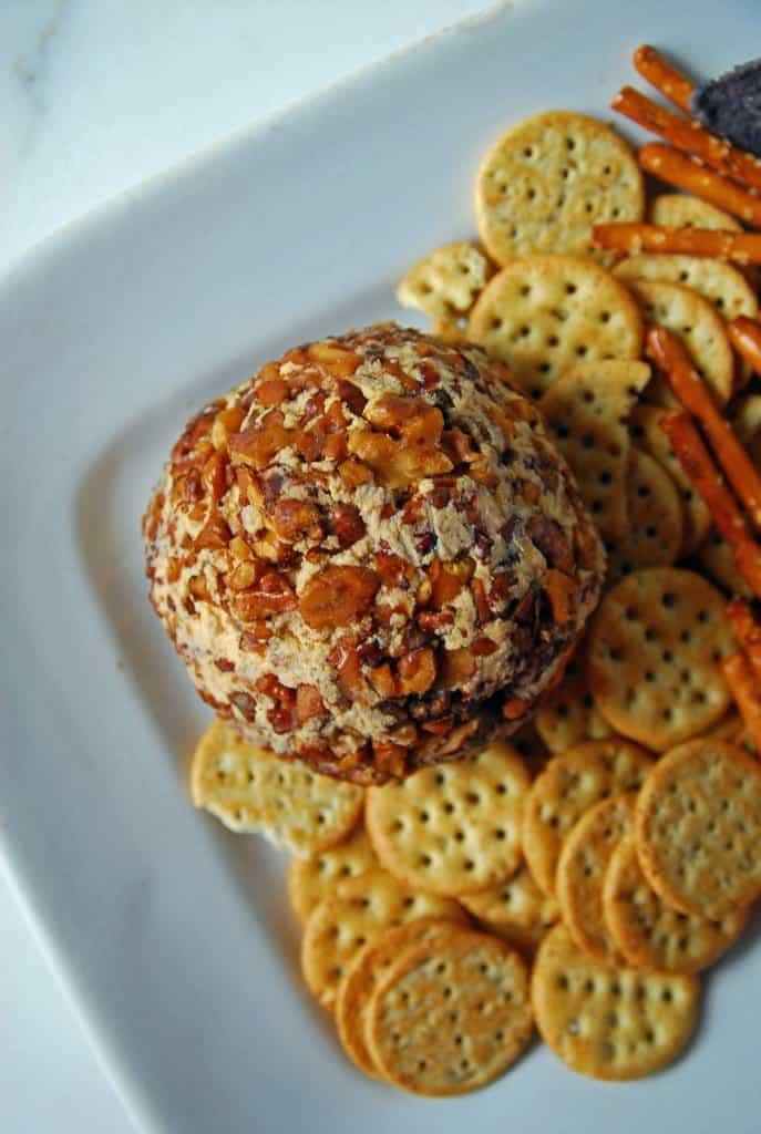spicy vegan cheese ball