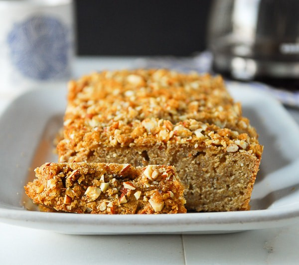 Brown Sugar Almond Streusel Bread//heartofabaker.com