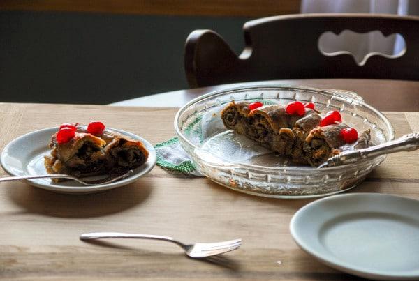 Swedish Coffee Cake on table