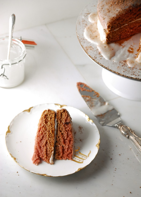 Vegan Cocoa Layer Cake with Cashew Cream Icing//heartofabaker.com