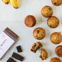 Vegan Banana and Dark Chocolate Steel Cut Oat Muffins
