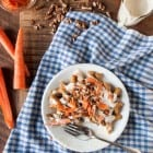 Vegan Carrot Cake Waffles with Cream Cheese Frosting //heartofabaker.com