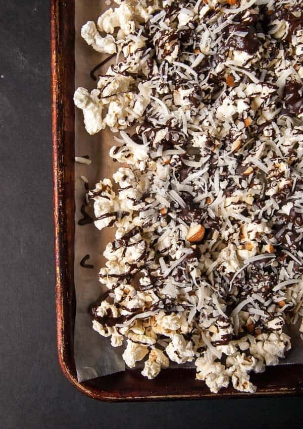 Vegan Almond Joy Popcorn