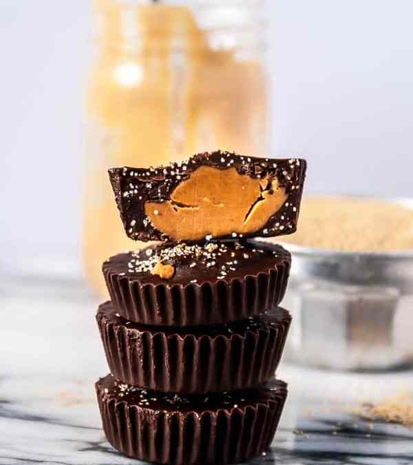 Popped Amaranth Peanut Butter Cups