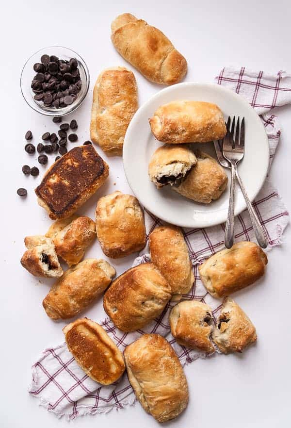 chocolate vegan croissants
