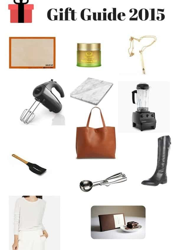 A gift guide for ladies, bakers and everyone else in between! Featuring Everlane, Vitamix, and Sunbeam.