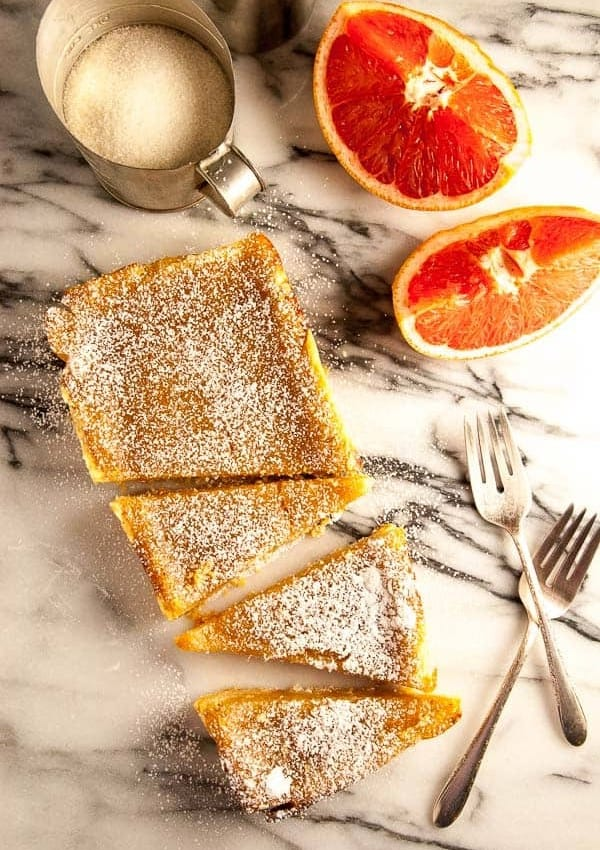 Grapefruit Tart with Vegan Shortbread Crust