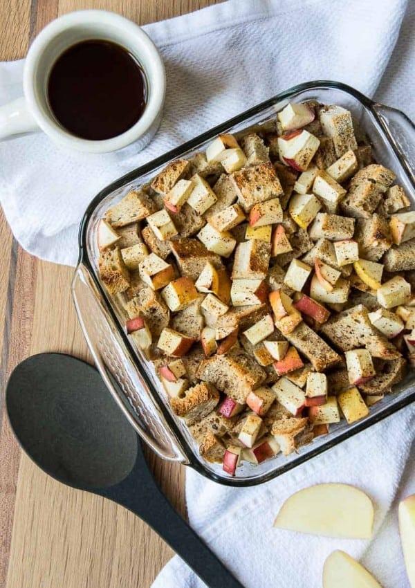 Apple Cinnamon Vegan Baked French Toast Casserole
