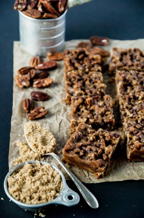 Vegan Maple Pecan Bars from the side