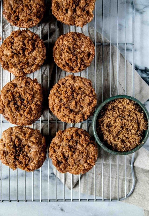 Vegan Apple Cinnamon Muffins with topping