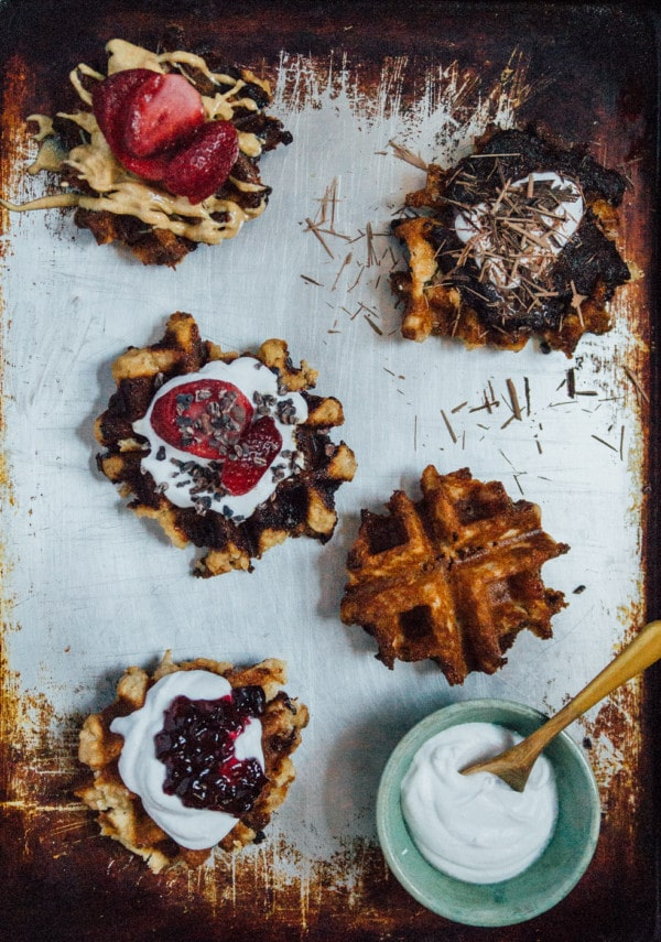 Vegan Brioche Waffles - Waffles are taken to the next level, with this recipe for vegan brioche waffles! Made fluffier with yeast and a rich vegan brioche dough.