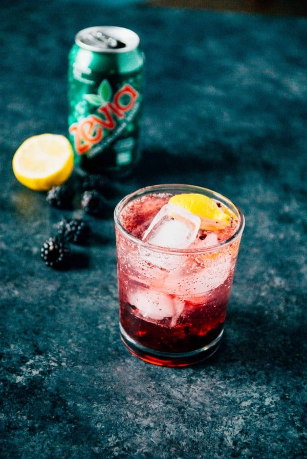 A light and refreshing blackberry lemon spritzer, made with sweet ginger ale!