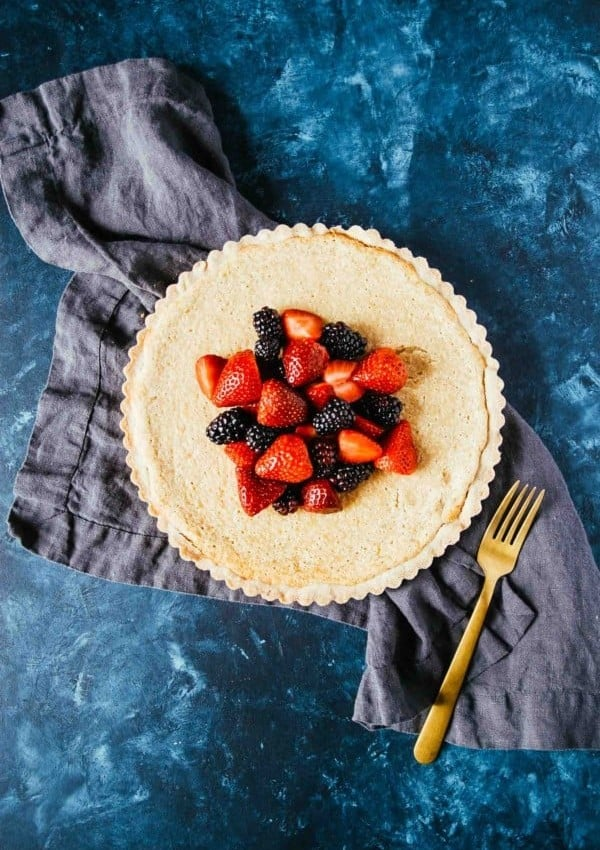 Vegan Lemon Tart with Shortbread Crust