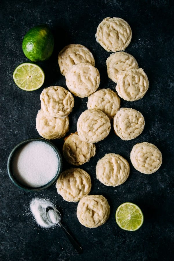 Vegan lime sugar cookies are the perfect way to kick off summer with a heavy dose of fresh lime in a chewy, perfect vegan sugar cookie!