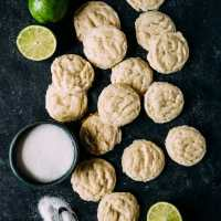 Vegan Lime Sugar Cookies