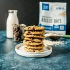 Classic vegan oatmeal cookies get a sweet twist, with loads of chocolate chips, crispy edges and no chilling time required. These easy vegan oatmeal cookies can't be beat!