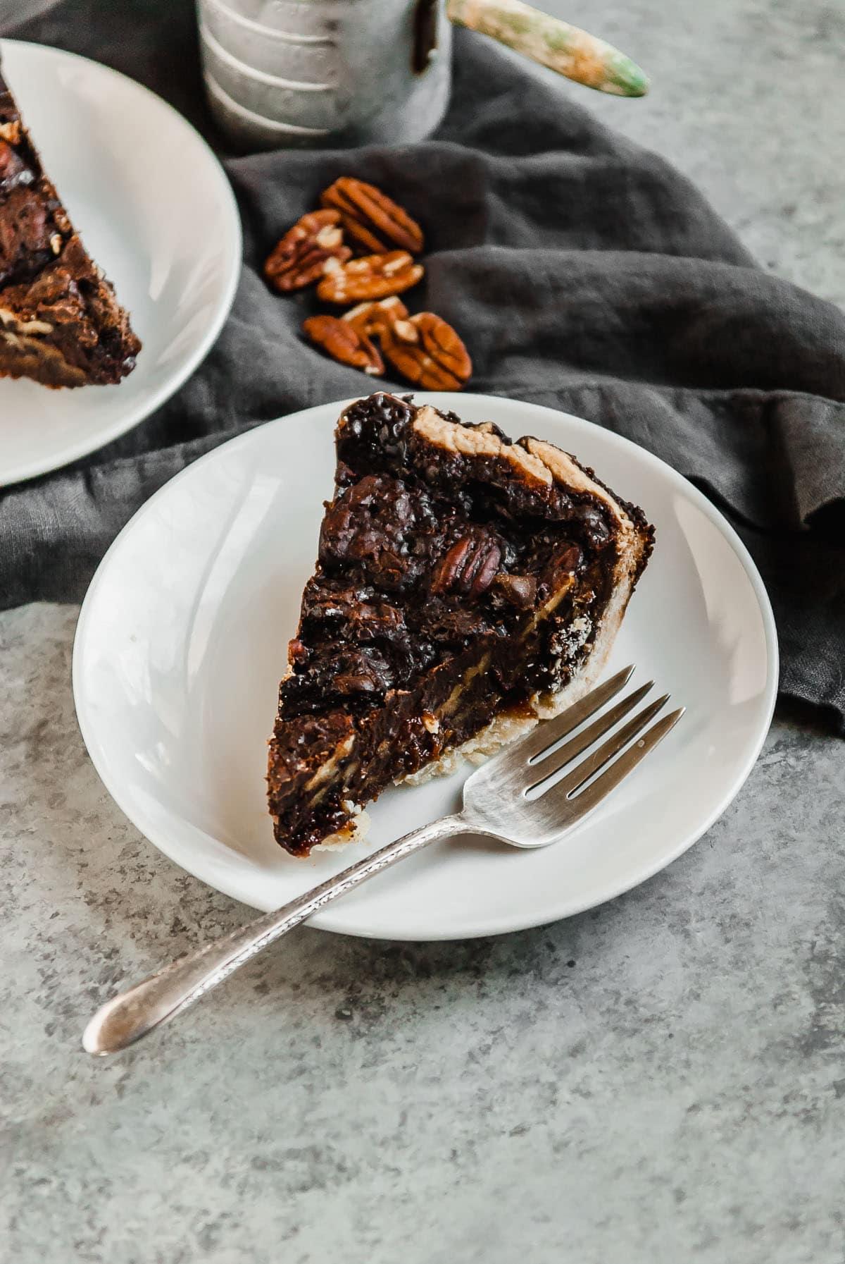 chocolate vegan pecan pie