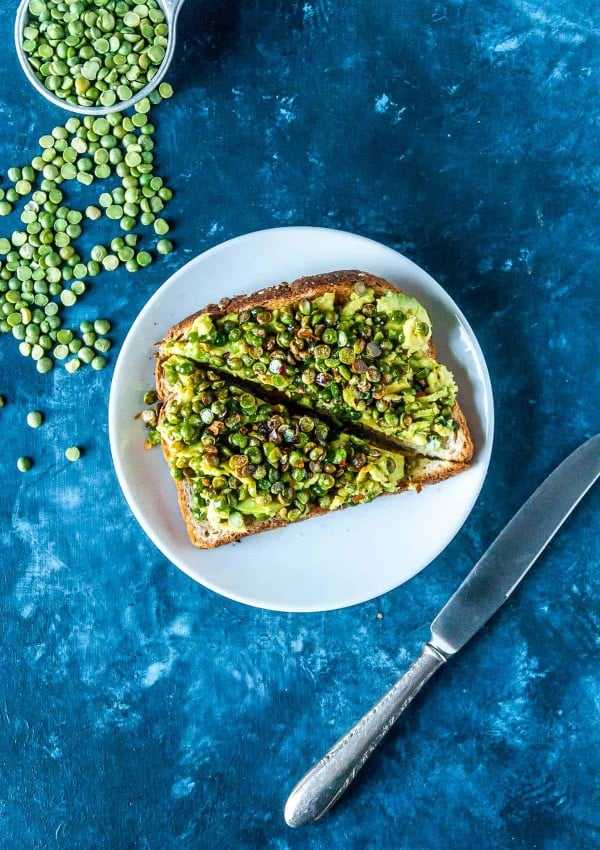 Crispy Split Pea Avocado Toast