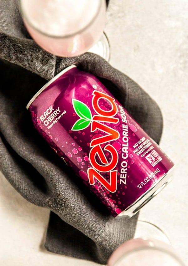 zevia can on napkin