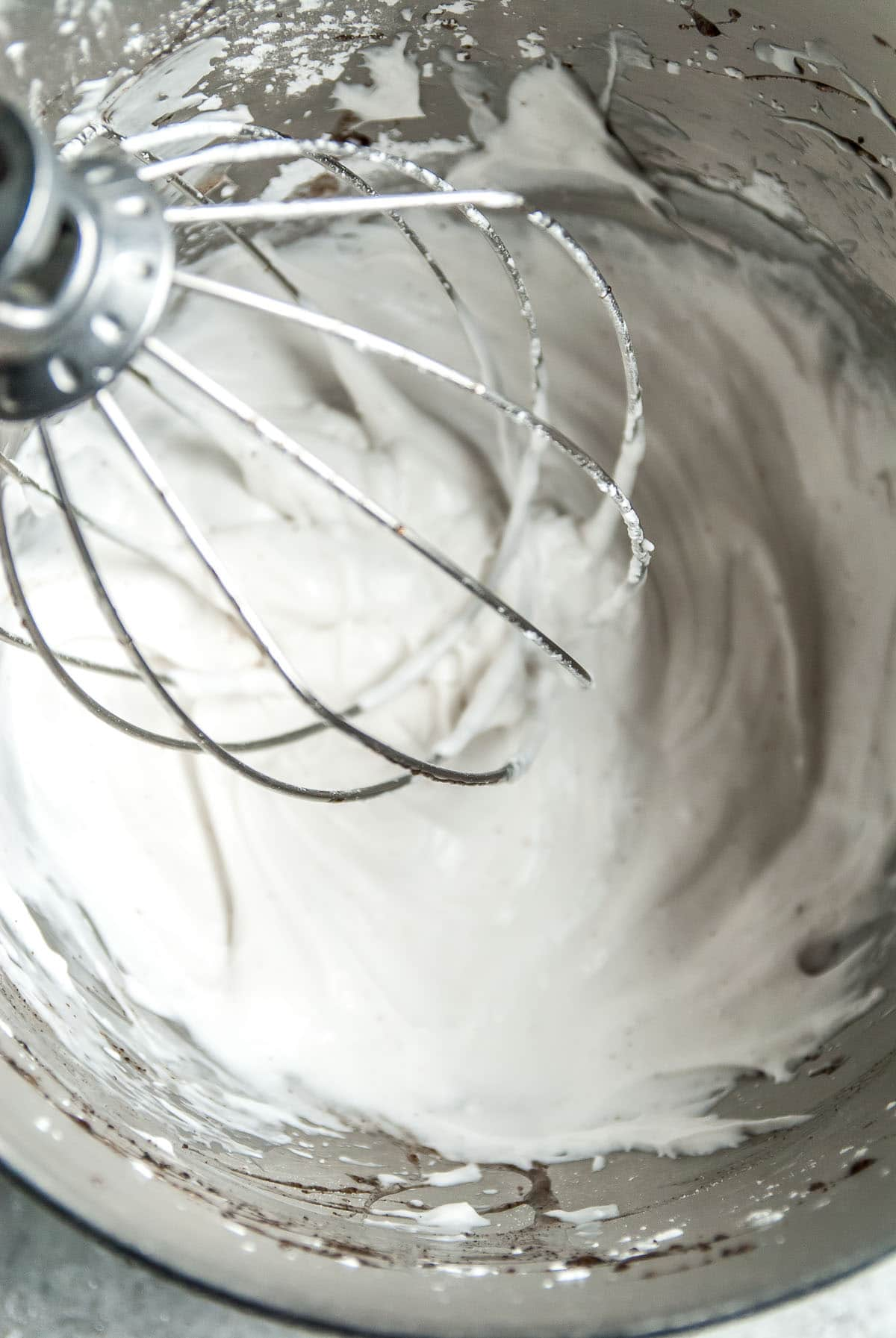 making a batch of coconut whipped cream