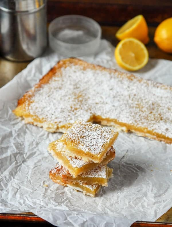 Vegan Lemon Bars with Shortbread Crust