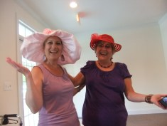 Queen Angie Rowe in pink, with Lady Diamond-Diana Craig