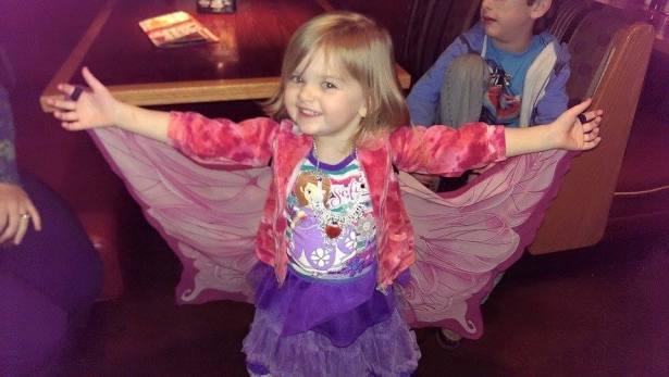 I can fly! Katy, age 3