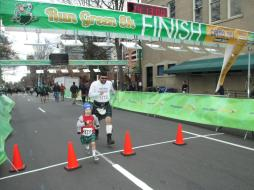 Celebrating our Scottish heritage at the Kilt Run, Raleigh, NC, Liam and Greg