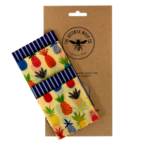 Beeswax Wraps Lunch Pack Pineapple