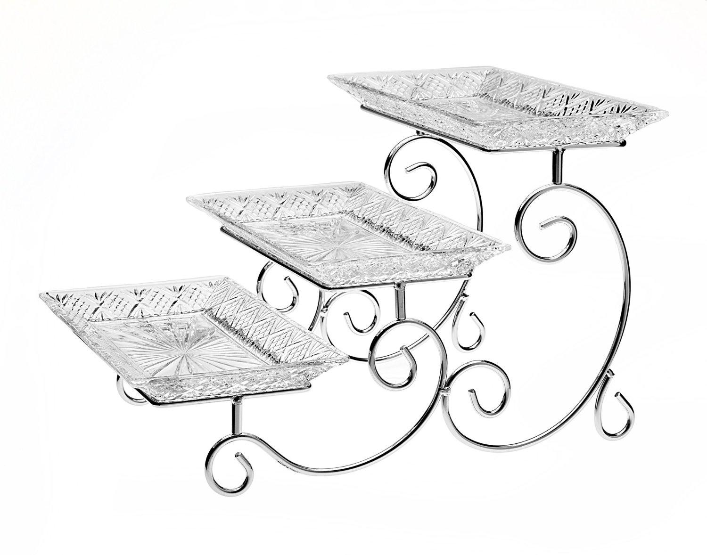 3 tier serving tray