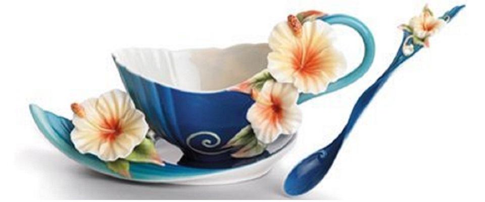 Franz Porcelain Jungle Fun Monkey Cup Saucer Spoon 02002
