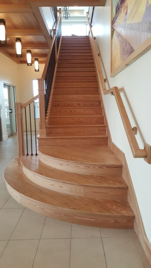 Reclaimed Wood Stairs Stair Parts Treads And Moldings | Wood Look Stair Treads